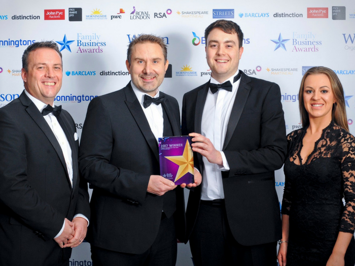 Orderwise wins Midlands Family Business 2017