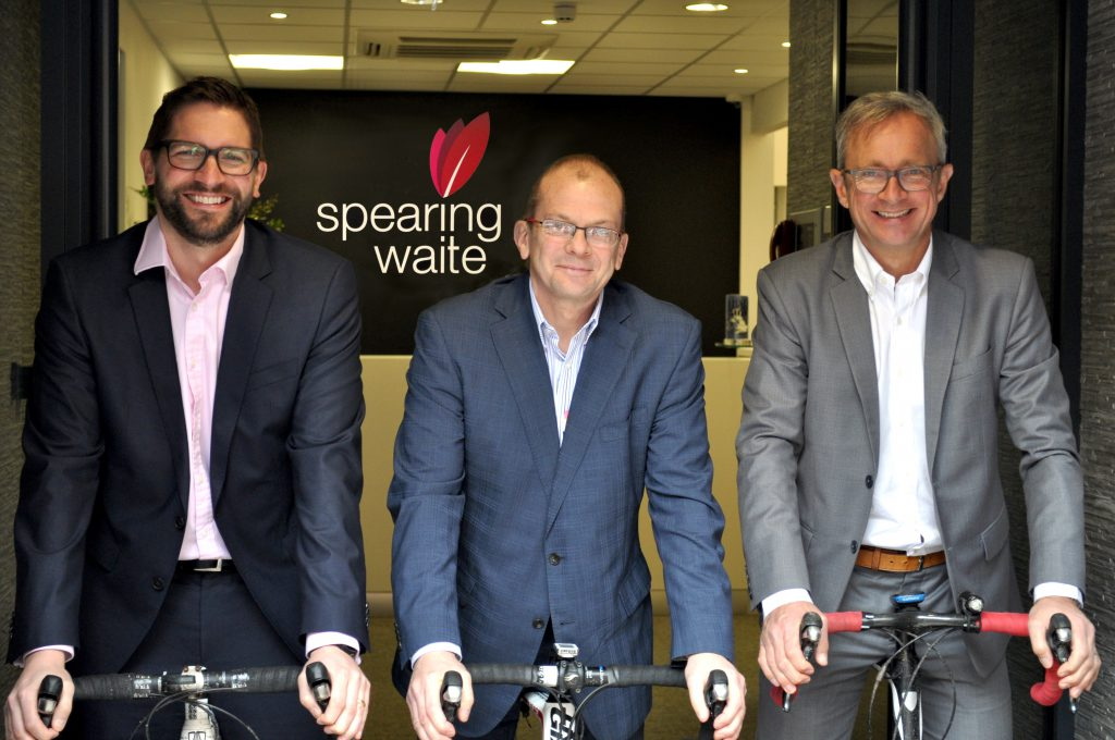 Spearing Waite cycle sportive for LOROS