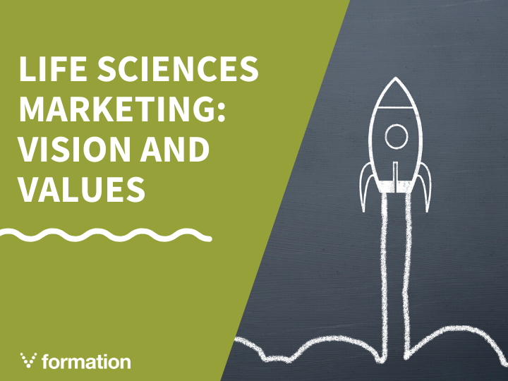 Life sciences marketing: the importance of vision and values